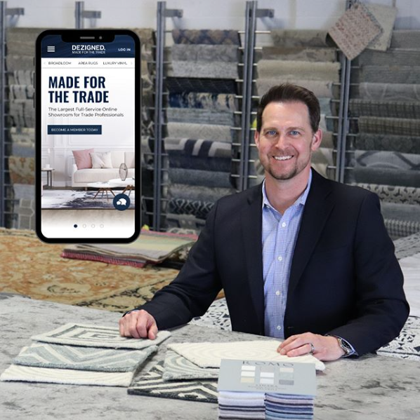 Erik Luthy owner of Exceptional Flooring Concepts, New Jersey's leading trade only interior design showroom and DEZIGNED and online full service showroom.
