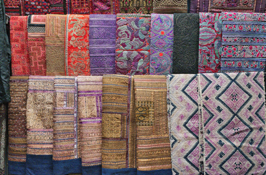 Indian hand-made rugs, colorful patterns, maximalist design trends